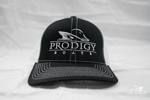Prodigy Structured Mesh Hat - Black/White