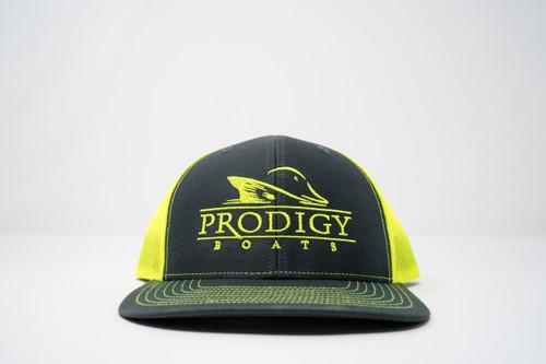 Prodigy Snapback - Charcoal/Neon Yellow