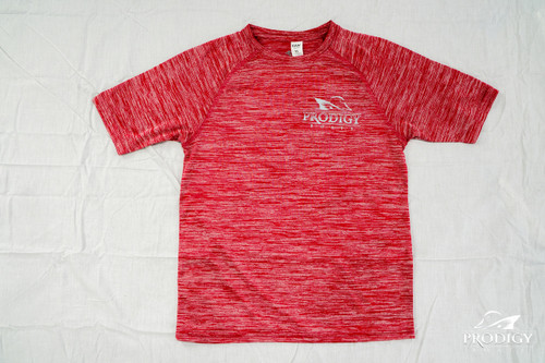 Prodigy Youth Dry-Tek T-Shirt - Red/Gray Ink