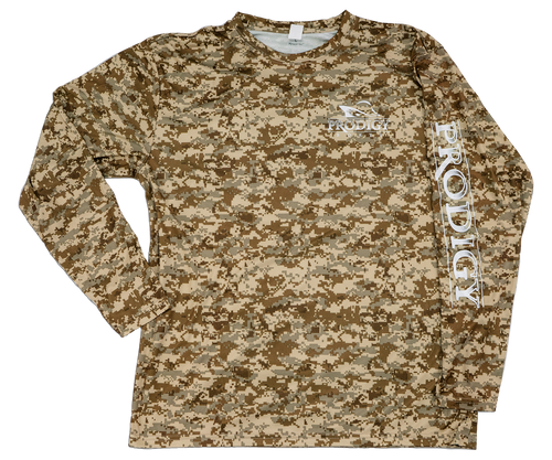 Prodigy Xtreme-Tek Long Sleeve Shirt - Digital Camo - Desert/White Ink