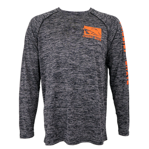 Prodigy Dry-Tek Long Sleeve Shirt - Black/Orange Ink