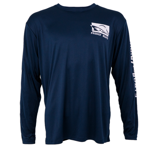 Prodigy Xtreme-Tek Long Sleeve Shirt - Navy/White Ink