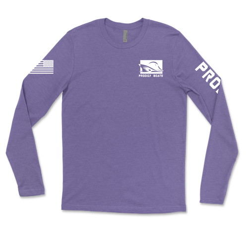Long Sleeve Dry-Tek - Heather Royal/White
