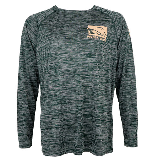 Prodigy Dry-Tek Long Sleeve Shirt - DK Green/Tan Ink
