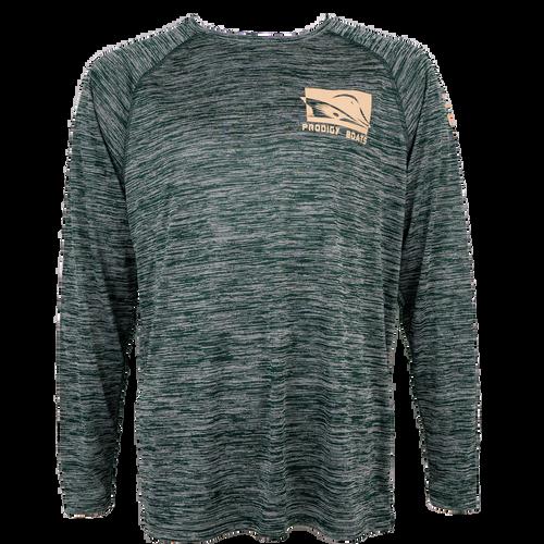 Prodigy Dry-Tek Long Sleeve Shirt - DK Green/Tan Ink