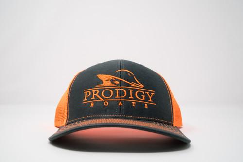 Prodigy Snapback - Charcoal/Neon Orange