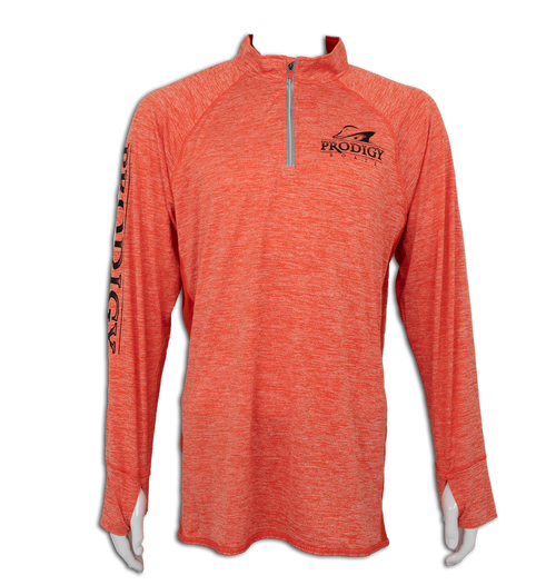 Prodigy Dry-Tek 1/4 Zip Jacket- Orange/Black Ink