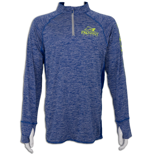Prodigy Dry-Tek 1/4 Zip Jacket - Blue/Neon Ink