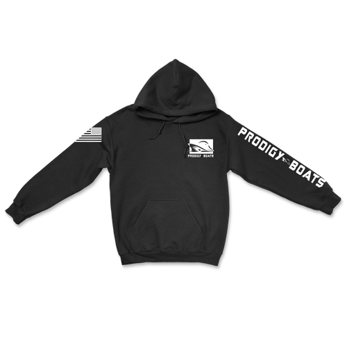 Cotton Heavy Blend Hoodie - Black/White