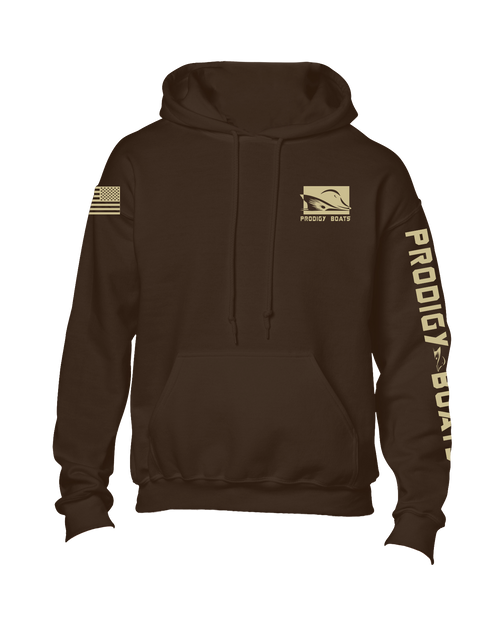Cotton Heavy Blend Hoodie - Chocolate/Khaki