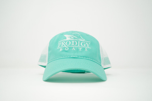 Prodigy Unstructured Mesh Hat - Teal/White