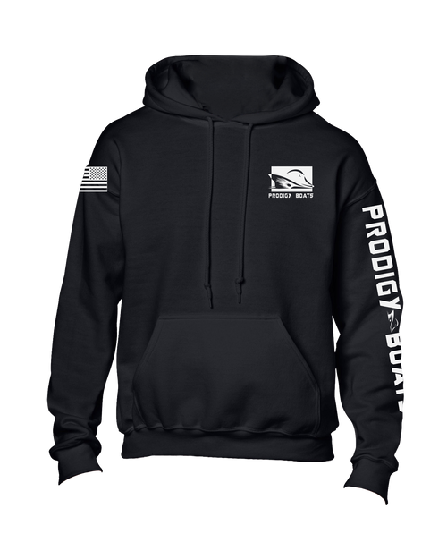Polyester Performance Hoodie - Black/White