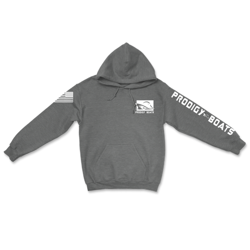 Cotton Heavy Blend Hoodie - Charcoal/White