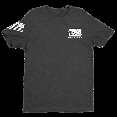 T-Shirt – Heather Black/White
