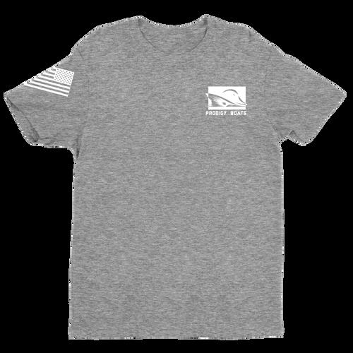 T-Shirt – Heather Gray/White