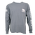 Prodigy Classic Long Sleeve Pocket Tee - Granite/White Ink