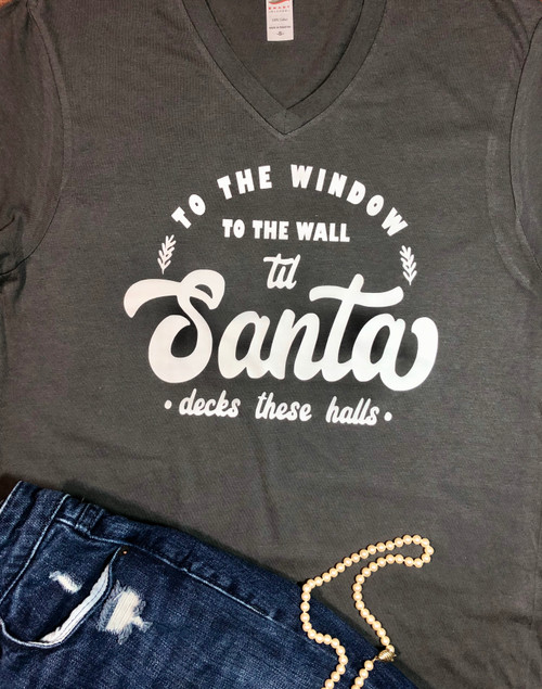 To the window, to the wall till Santa decks these halls