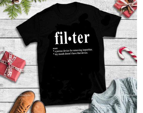 Filter  noun *a porous device for removing impurities. *my mouth doesn't have that device.