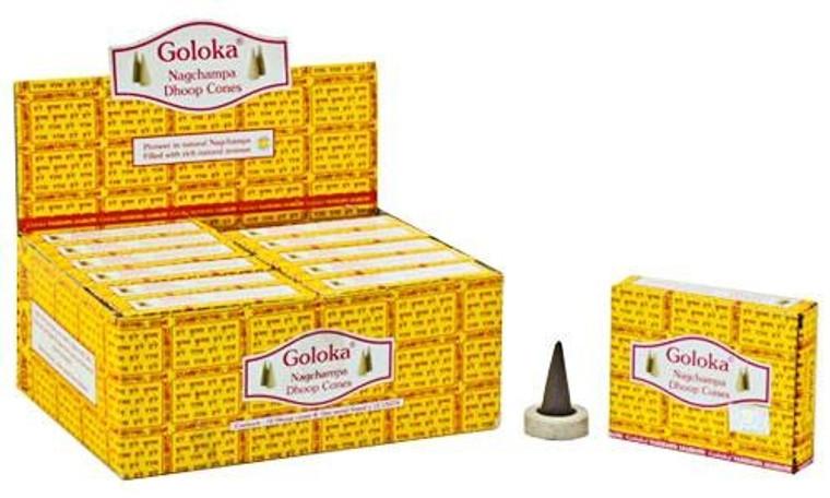 Goloka Nag Champa Incense Cones