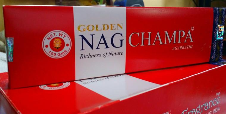 Golden Nag Champa Incense 15g