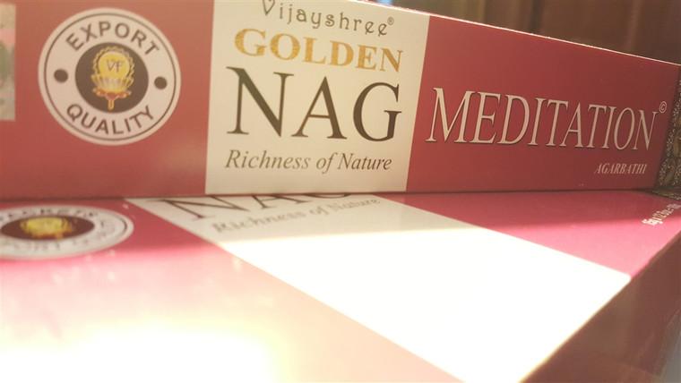 Golden Nag Meditation Incense 15g