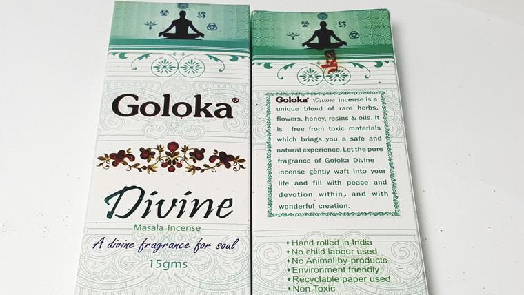Goloka Divine 15 gram, front and back