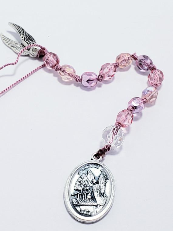 Pink Guardian Angel Prayer Chaplet