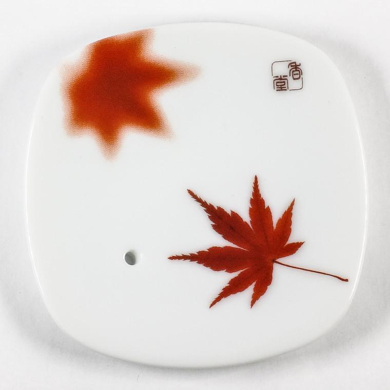 Yume-No-Yume (The Dream of Dreams) - Ceramic Plate Maple Leaf
