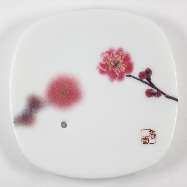 Yume-No-Yume (The Dream of Dreams) - Ceramic Plate Pink Plum Flower