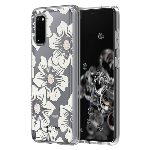 Kate Spade - Hardshell Case for Samsung Galaxy S20 - Hollyhock Floral