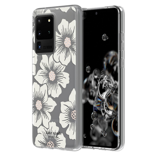 Kate Spade - Hardshell Case for Samsung Galaxy S20 Ultra - Hollyhock Floral