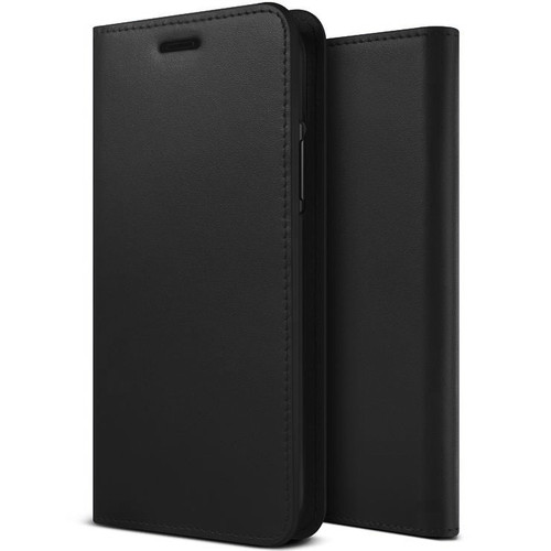 ZIZO WALLET FOLIO Cricket Icon Smartphone Case | Magnetic Flap Closure with Credit Card and ID Holder (Black Leather) WTPH-CKICON-BKLT