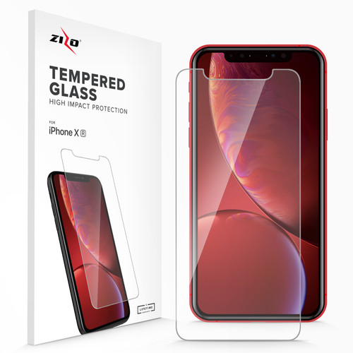 ZIZO Glass Compatible with iPhone XR Tempered Glass Screen Protector Anti Scratch 9H Hardness Clear 1LSHD-IPHXR-CL