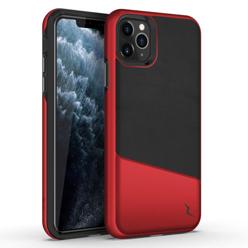 ZIZO DIVISION Series iPhone 11 Pro Case - Military-grade ProtectION with Heavy-duty Shock AbsorbtION - Designed for Apple iPhone 5.8 - Black / Red DVS-IPH58-BKMRD