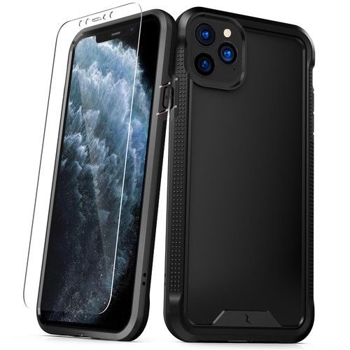 ZIZO ION Series iPhone 11 Pro Case - Military Grade Drop Tested with Tempered Glass Screen Protector - Matte Black IONC-IPH58-BKBK