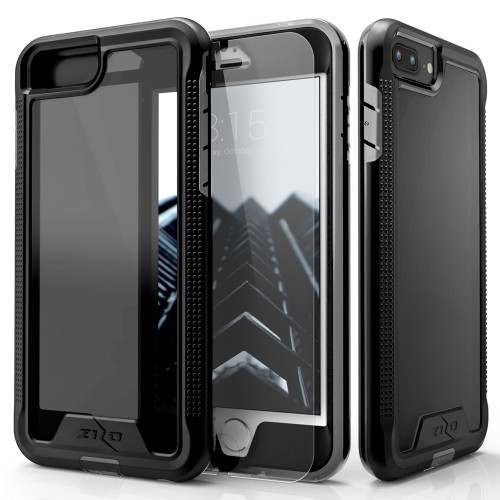ZIZO ION Series Compatible with iPhone 8 Plus Case Military Grade Drop Tested with Tempered Glass Screen Protector iPhone 7 Plus 6s Plus Black Smoke 1IONC-IPH7PLUSN-BKSM
