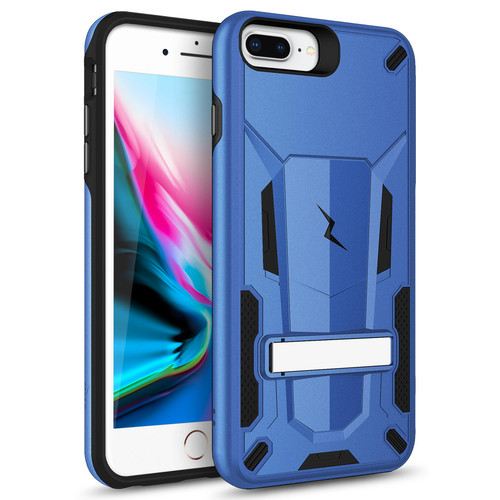ZIZO TRANSFORM iPhone 8 Plus  iPhone 7 Plus, iPhone 6s Plus Case - Dual Layered with Built in Kickstand Slim and Shockproof - Blue & Black TFM-IPH7PLUS-BLBK