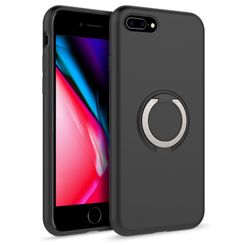 ZIZO REVOLVE Series Compatible with iPhone 8 Plus Case with Built In 360 Ring Holder Magnetic Mount and Kickstand iPhone 7 Plus Magnetic Black REV-IPH7PLUS-MGBK
