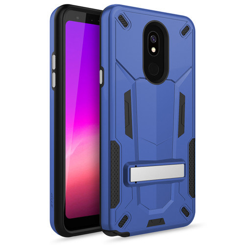 ZIZO TRANSFORM Series Compatible with LG Stylo 5 Case Dual Layered with Built in Kickstand Slim and Shockproof Blue Black TFM-LGSTL5-BLBK