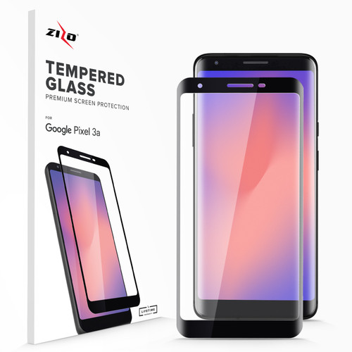 ZIZO Full Glue Glass Compatible with Google Pixel 3a Screen Protector with Anti Scratch with 9H Hardness Black GLSHD-GOOGPL3A-BLK