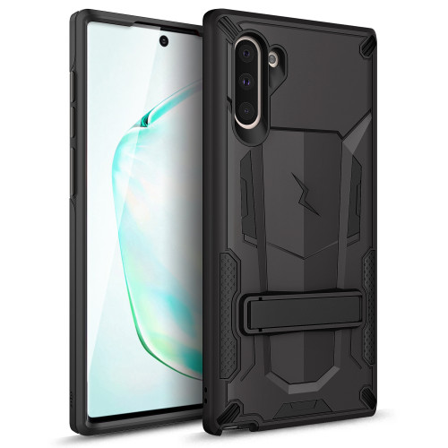 ZIZO TRANSFORM Samsung Galaxy Note 10 Case | Dual-layer ProtectION w/ Kickstand  Military Grade Drop ProtectION Designed for Samsung Galaxy Note 10 (Black/Black) TFM-SAMGN10-BKBK