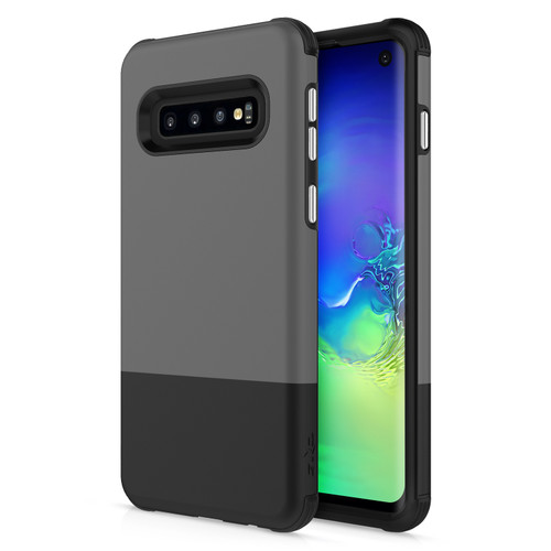 ZIZO DIVISION Series Galaxy S10 Case Lightweight with Anti Scratch Shockproof Gray Black DVS-SAMGS10-GRBK