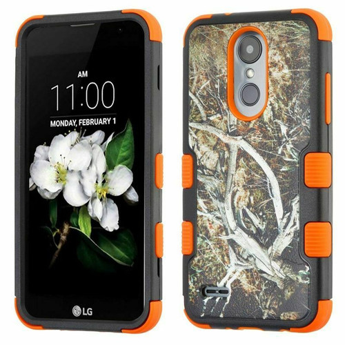 LG K8 (2018) Yellow/Black Vine/Orange TUFF Hybrid Protector Cover [Military-Grade Certified](with Package)