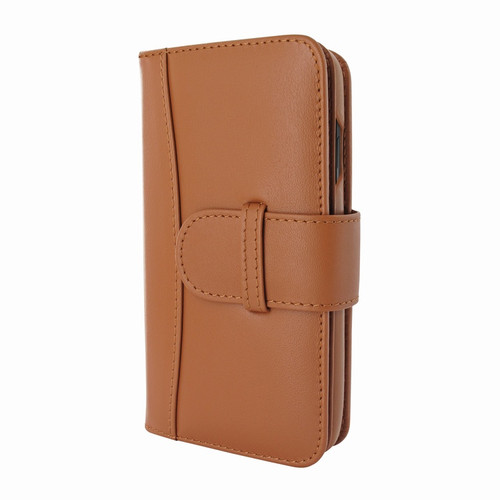 Piel Frama 842 Tan WalletMagnum Leather Case for Apple iPhone 11