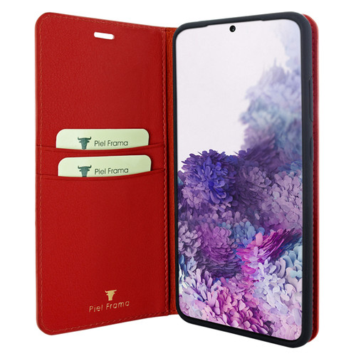 Piel Frama 845 Red FramaSlimCards Leather Case for Samsung Galaxy S20