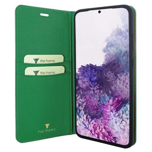 Piel Frama 845 Green FramaSlimCards Leather Case for Samsung Galaxy S20