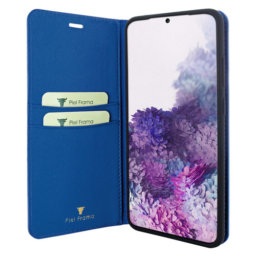 Piel Frama 845 Blue FramaSlimCards Leather Case for Samsung Galaxy S20