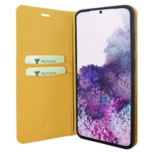 Piel Frama 845 Yellow FramaSlimCards Leather Case for Samsung Galaxy S20