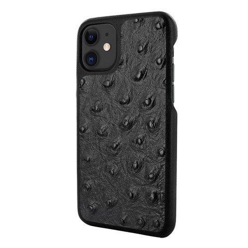 Piel Frama 838 Black Ostrich LuxInlay Leather Case for Apple iPhone 11