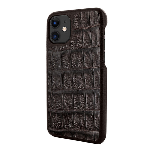 Piel Frama 838 Brown Wild Crocodile LuxInlay Leather Case for Apple iPhone 11